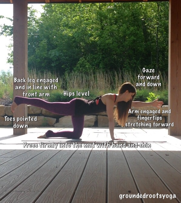 Yoga Pose for balancing and building core strength