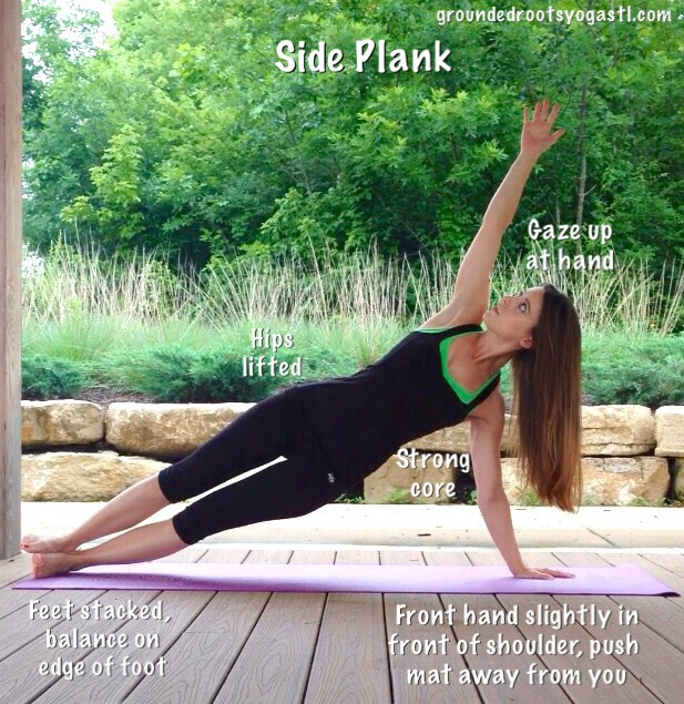 Side Plank yoga core strengthener