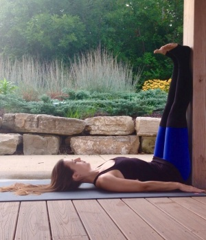 Legs Up The Wall Pose in Yoga