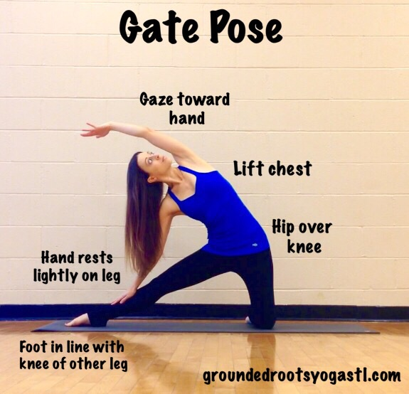 How To Gate Pose Parighasana Groundedrootsyoga